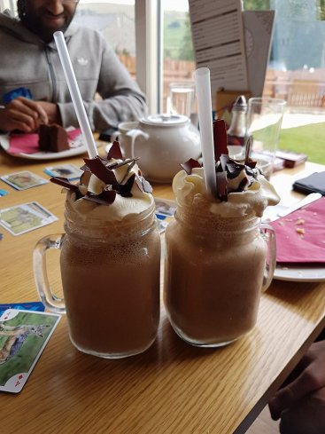 Milkshakes at Knights Stainforth